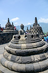 Saturday Mar 25. Buddhist Temple complex of Borobudur. Each of the