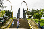 We climb many steps to reach Candi Cetho temple.